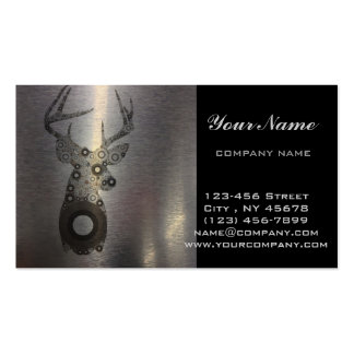 modern western country abstract deer head pack of standard business cards