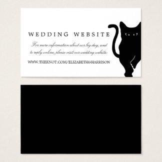 Modern Whimsical Black Cat Wedding Website Insert