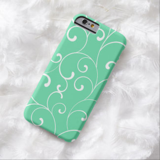 Modern Whimsical Curls Aqua Barely There iPhone 6 Case
