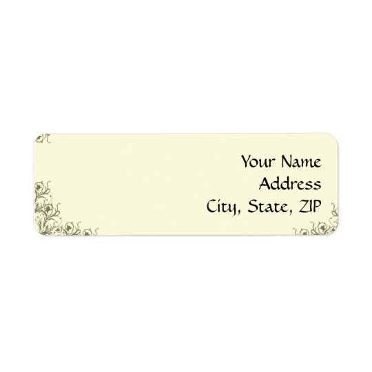 Modern Whimsy: Traditional Meets Modern Scroll Return Address Label