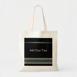 Modern White and Black Racing Stripe Canvas Bag
