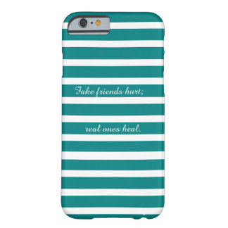 Modern White and Blue Friendship Quote Case