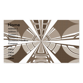 Modern white and gray circular design business card template