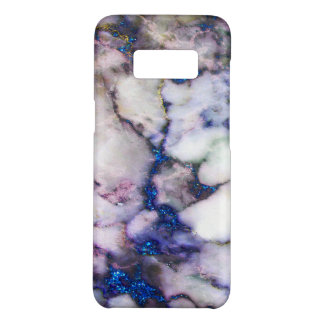 Modern White  And Pink Marble And Blue Glitter Case-Mate Samsung Galaxy S8 Case