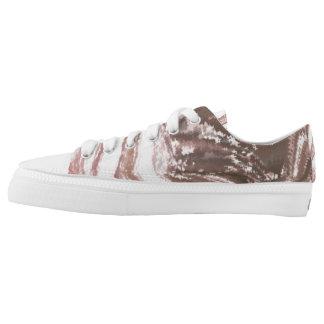 Modern_White_Brown  Zipz Low Top Shoes