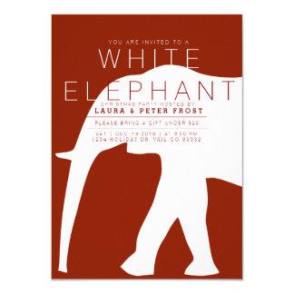 Modern White Elephant Holiday Party Invite