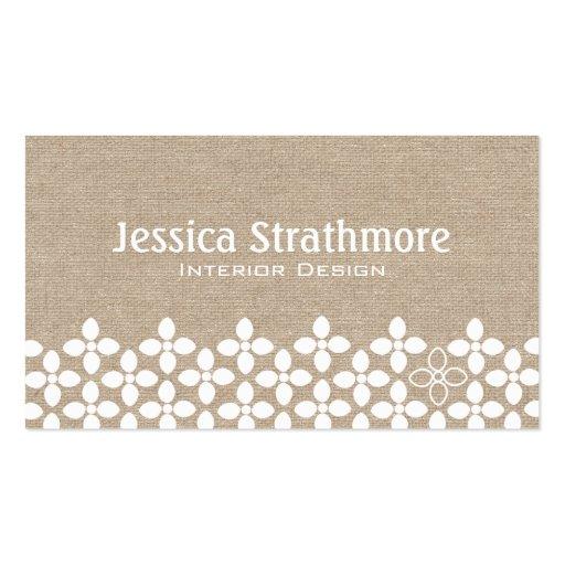 Modern White Flower Business Card Business Card