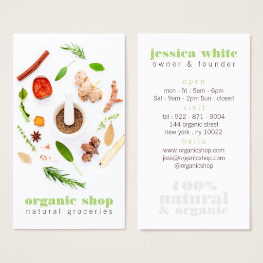Modern white fresh organic foods healthy cooking business