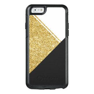 Modern White Gold Black triangle OtterBox iPhone 6/6s Case