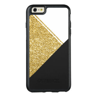 Modern White Gold Black triangle OtterBox iPhone 6/6s Plus Case