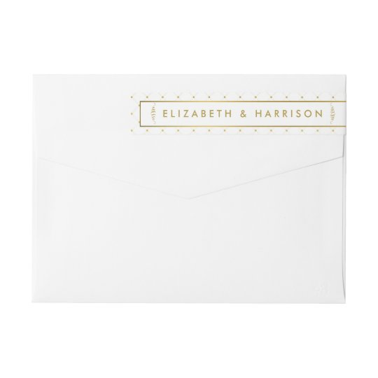 Modern White & Gold Foil Effect Wedding Wrap