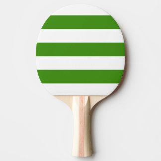 Modern White, Green Stripe Ping Pong Paddle