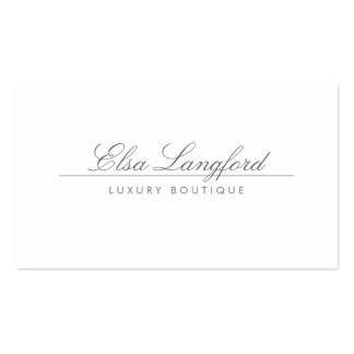 MODERN WHITE LUXURY BOUTIQUE Business Card