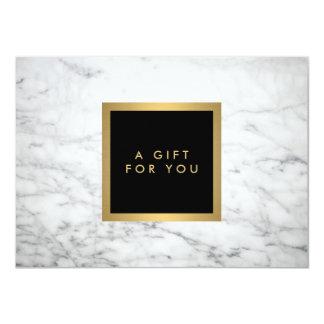 Modern White Marble Luxury Gift Certificate 11 Cm X 16 Cm Invitation Card
