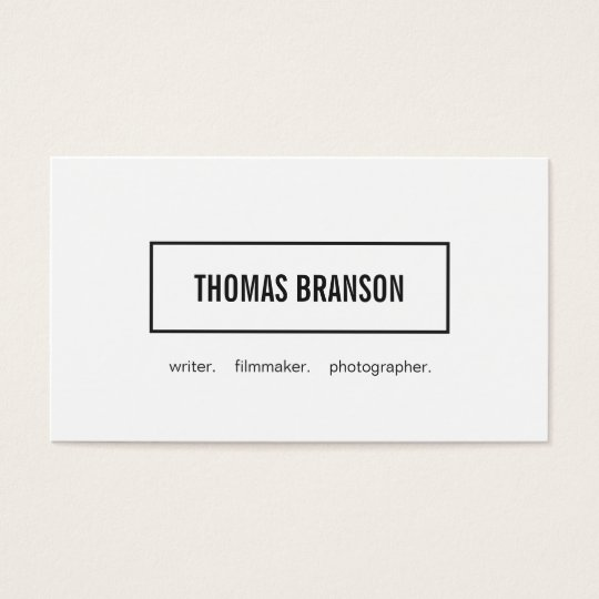 Modern White Minimalist Professional Rectangle 2 Business Card