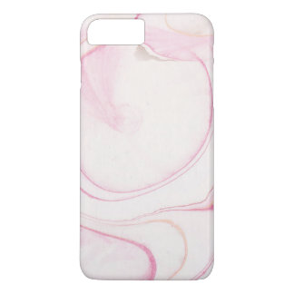 Modern White & Pink Marble Swirls iPhone 8 Plus/7 Plus Case