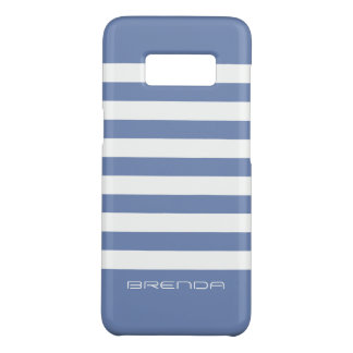 Modern White Stripes Powder-Blue Background Case-Mate Samsung Galaxy S8 Case