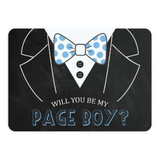 MODERN WILL YOU BE MY PAGE BOY | GROOMSMAN CARD