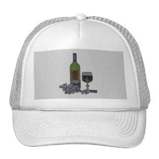 Modern wind and grapes digital art cap