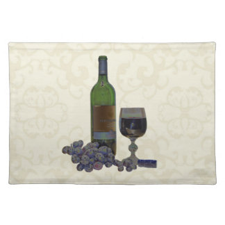 Modern Wine and Grapes Art American MoJo Placemat