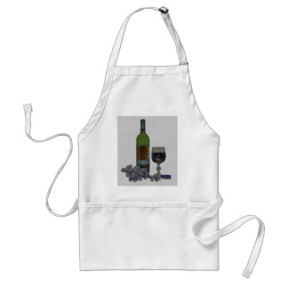 Modern wine and grapes art apron