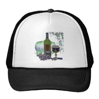 Modern Wine and Grapes Art Cap