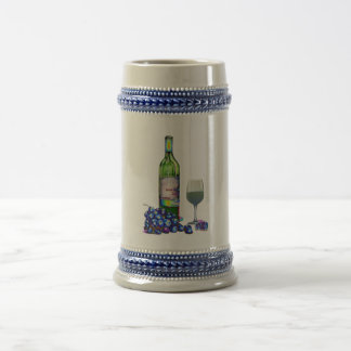 Modern Wine and grapes art gifts Beer Stein