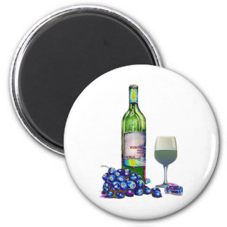 Modern Wine and grapes art gifts Magnet