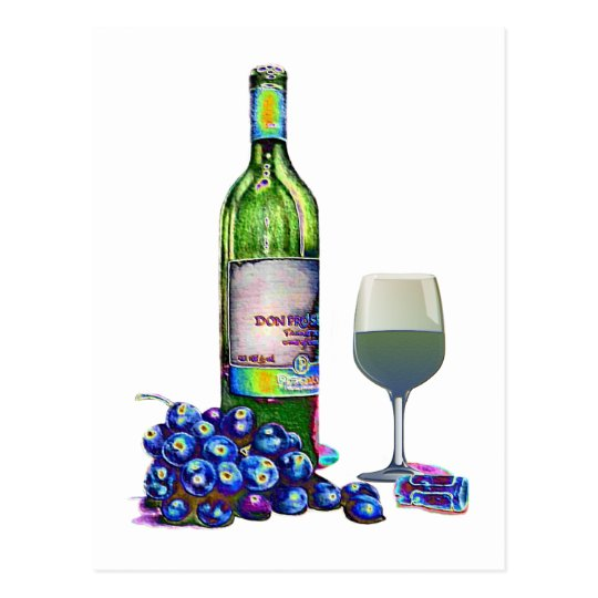 Modern Wine and grapes art gifts Postcard