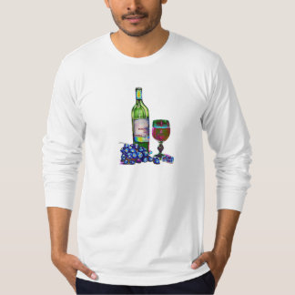 Modern Wine and Grapes Art Gifts T-Shirt