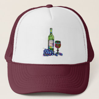 Modern Wine and Grapes Art Gifts Trucker Hat