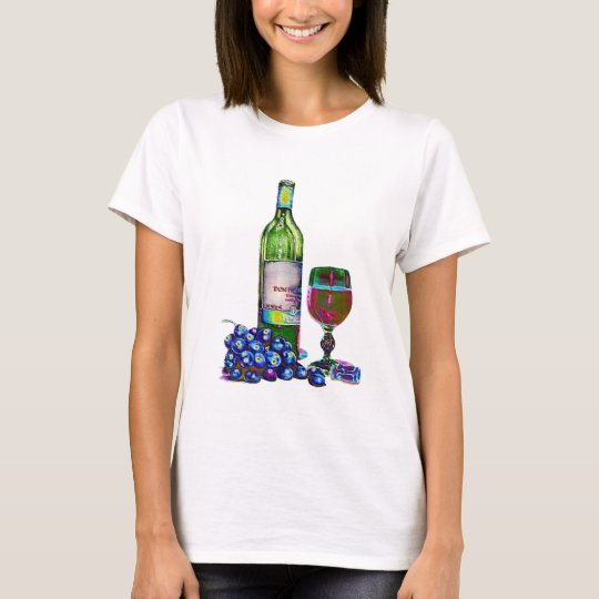 Modern Wine and grapes art T-Shirt