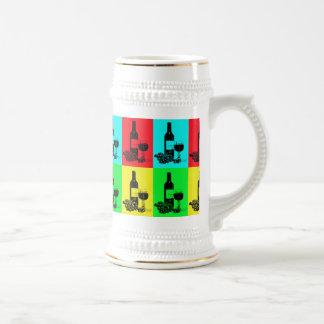 Modern Wine and Grapes Pop-Art Beer Stein