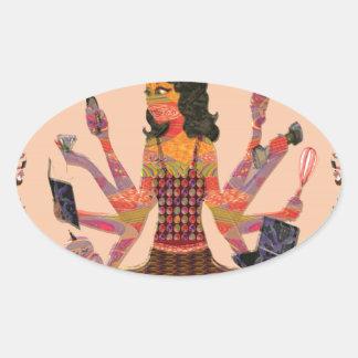 Modern Woman Goddess Hands Choices GIFT Cartoon 07 Stickers