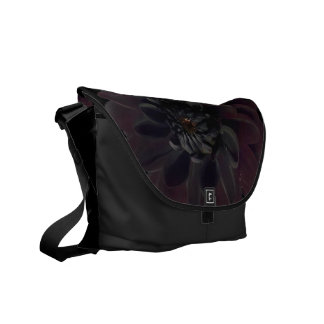 Modern Woman's Floral Black Dahlia Flower Commuter Bags