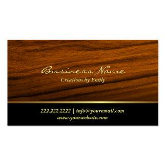Modern Wood Grain Jewelry Business Card