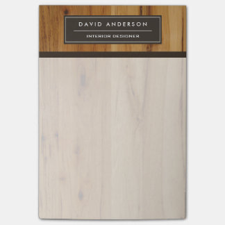 Modern Wood Grain Professional & Classy Look Post-it® Notes