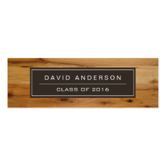 Modern Wood Grain Student Graduation Name Card Pack Of Skinny Business Cards