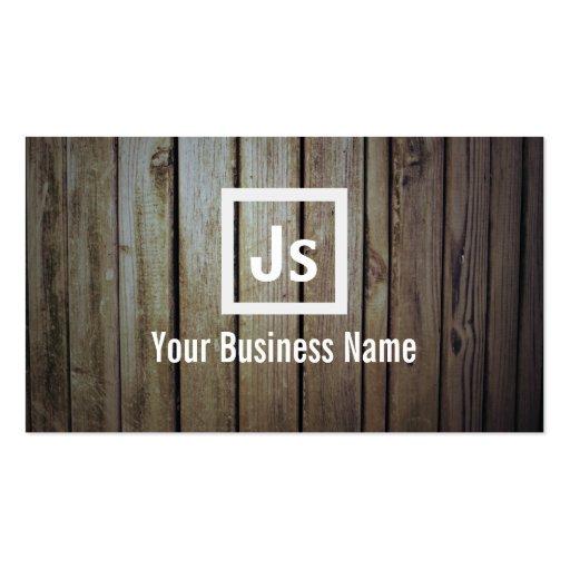 Modern Wood Stripe Wall Interios Business Card