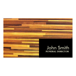 Modern Wood Stripes Funeral Business Card