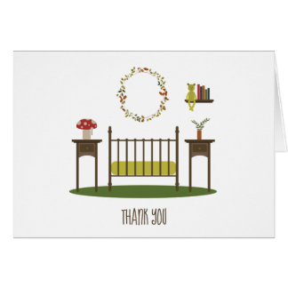 Modern Woodland Nursery Baby Shower Thank You Card