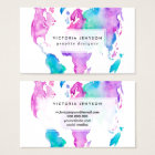 Modern world map globe bright watercolor paint business card