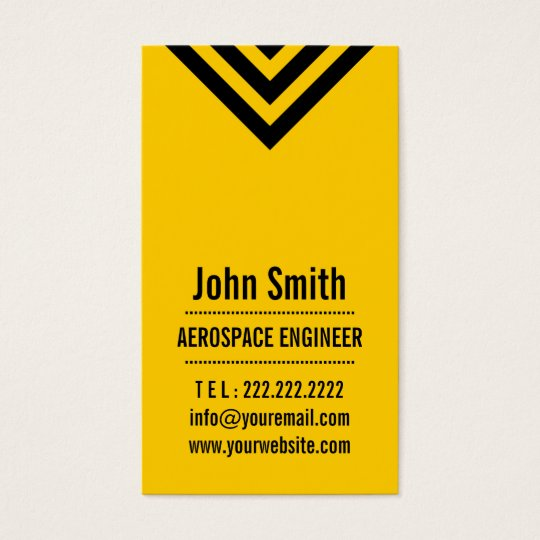 Modern Yellow Aerospace Engineer Business Card