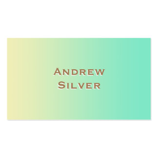 Modern Yellow and Blue Green Gradient Pack Of Standard Business Cards