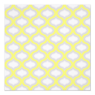 Modern Yellow and Shades of GreyWedding Invitation