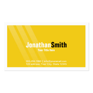Modern Yellow Black With Stripes and Frame Pack Of Standard Business Cards