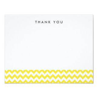 Modern Yellow Chevron Thank You Note Cards 11 Cm X 14 Cm Invitation Card