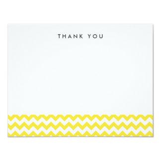 Modern Yellow Chevron Thank You Note Cards 11 Cm X 14 Cm Invitation Card