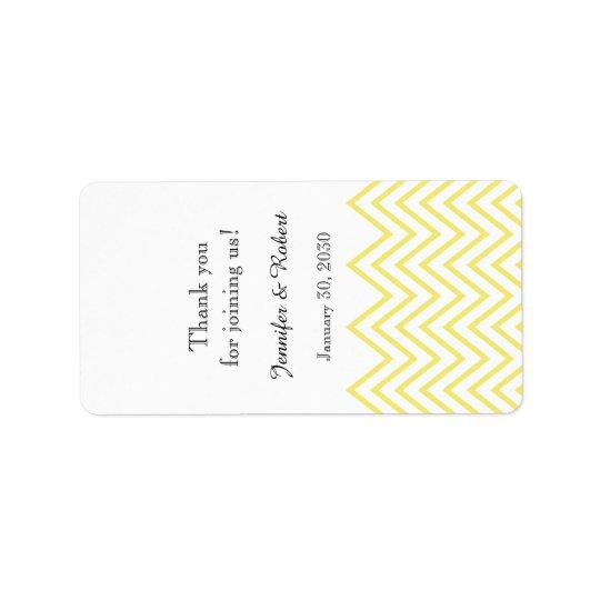 Modern Yellow Chevron Wedding Lip Balm Label Address Label