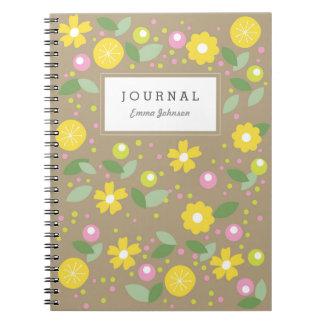 Modern Yellow Flowers Notebook